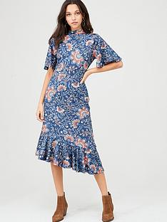 v-by-very-flute-sleeve-midi-jersey-dress-paisley