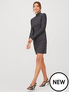 v-by-very-rainbow-stripe-sparkle-dress-black