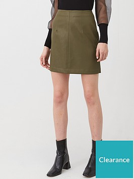 v-by-very-faux-leather-mini-skirt-khaki