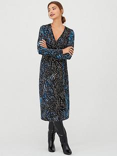v-by-very-animal-print-wrap-midi-dress-blue