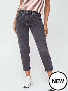 v-by-very-rays-yoke-mom-jean-washed-black