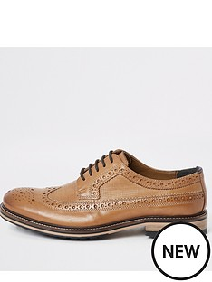 river-island-light-brown-leather-lace-up-brogues