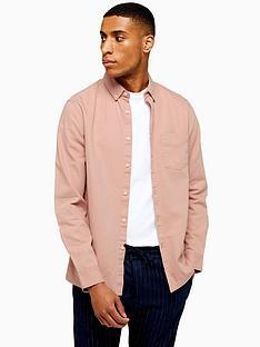 topman-washed-twill-oxford-shirt