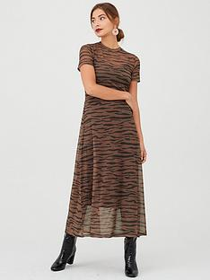 v-by-very-animal-print-mesh-midaxinbspdress-brown