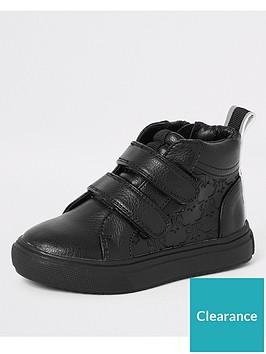 river-island-mini-boys-ri-monogram-velcro-trainers-black