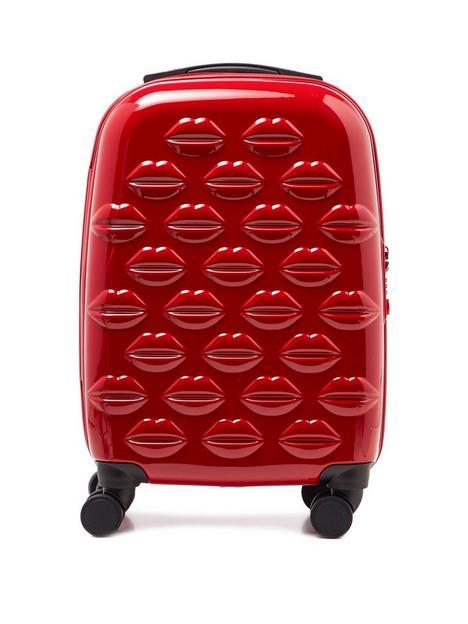 lulu-guinness-red-small-lips-hardside-spinner-case