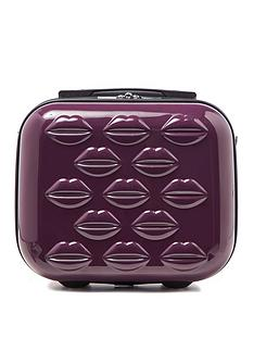 lulu-guinness-black-tulip-lips-hardsided-vanity-case
