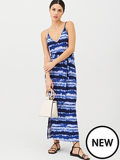 v-by-very-strappy-belted-midi-beach-dress-tie-dye