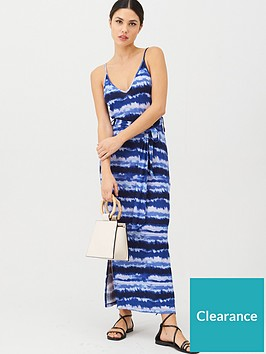 v-by-very-strappy-belted-midi-beach-dress-tie-dye