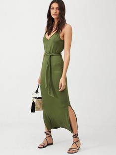 v-by-very-strappy-belted-midi-beach-dress-khaki