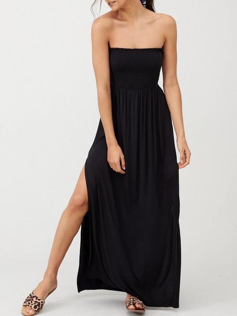 v-by-very-bandeau-maxi-dress-black