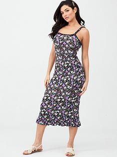 v-by-very-ruffle-detail-jersey-midi-beach-dress-floral-print
