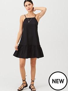 v-by-very-dropped-hem-linen-mix-beach-dress-black
