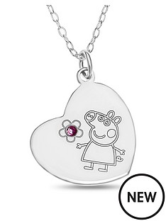 peppa-pig-sterling-silver-peppa-pig-childrens-heart-pendant-necklace-in-gift-box