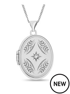 the-love-silver-collection-personalised-sterling-silver-cubic-zirconia-oval-locket-pendant-necklace