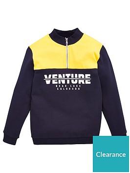 v-by-very-boys-venture-colour-block-half-zip-sweat-top-navy