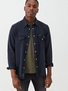 calvin-klein-jeans-modern-western-long-sleeved-shirt-black