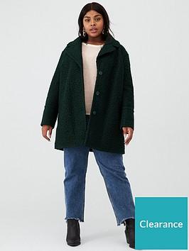 oasis-curve-boucle-teddy-coat-deep-green