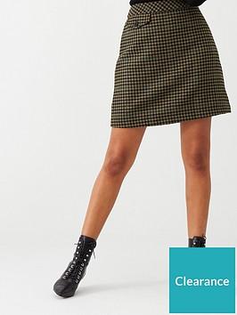 warehouse-check-pelmet-skirt-khaki