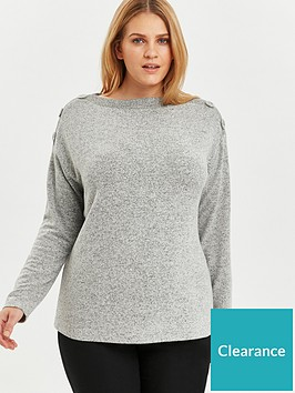 evans-soft-touch-button-neck-top-grey