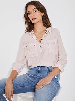 mint-velvet-utility-shirt-pink