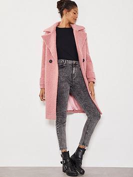 mint-velvet-textured-cocoon-coat-rose-pink
