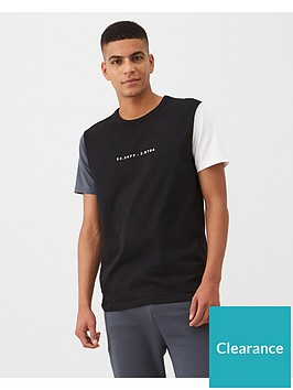 v-by-very-colour-block-sleeve-panel-t-shirt-black