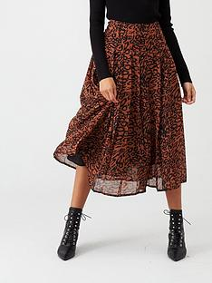 calvin-klein-georgette-pleated-skirt-leopardnbsp