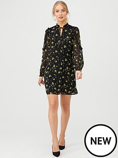 oasis-daffodil-lace-trim-dress-multiblack