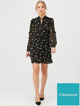oasis-daffodil-lace-trim-dress-multiblack