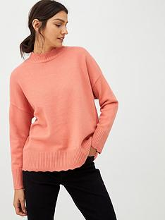 oasis-suzie-scallop-jumper-pale-pink