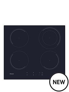 candy-candy-cic642-60cm-induction-hob-with-optional-installation--black-glass