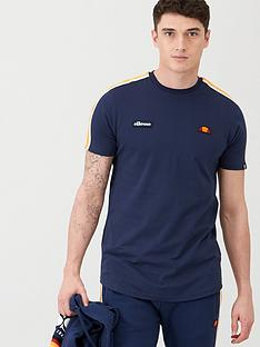 ellesse-iseo-taped-t-shirt-navy