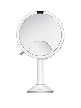 simplehuman-sensor-mirror-trio-white-stainless-steel