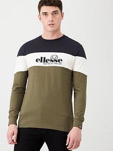 ellesse-fermo-long-sleeve-t-shirt-khaki