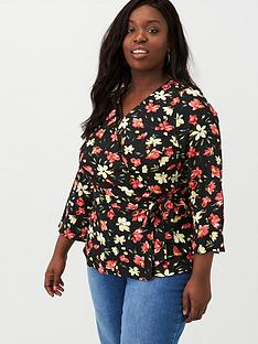 v-by-very-curve-tie-wrap-blouse-floral-print