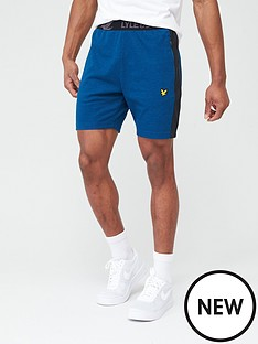 lyle-scott-fitness-colour-breaker-shorts-navy-marl