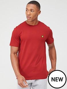 lyle-scott-fitness-martin-short-sleeved-t-shirt-red