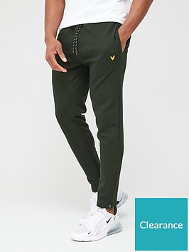 lyle-scott-fitness-core-zip-track-pants-deep-spruce-green