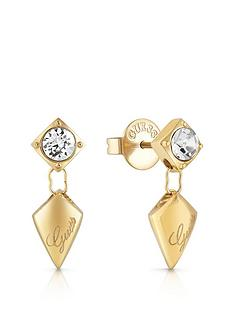 guess-guess-gold-tone-crystal-set-logo-arrow-drop-earrings