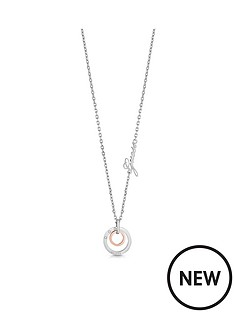 guess-guess-silver-and-rose-gold-tone-circles-pendant-logo-necklace