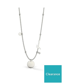 guess-guess-silver-tone-logo-disc-charm-necklace
