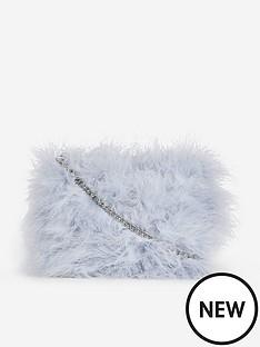 dorothy-perkins-dorothy-perkins-feather-clutch-bag-grey