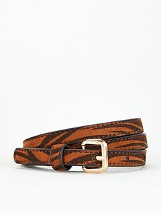 dorothy-perkins-two-pack-tiger-print-belt-black-multi