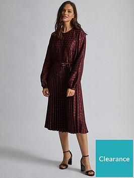 dorothy-perkins-dorothy-perkins-jacquard-spot-midi-dress-burgundy