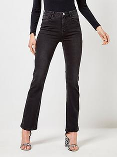dorothy-perkins-dorothy-perkins-shape-and-lift-kick-flare-jeans-black