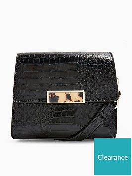 topshop-skye-croc-cross-body-bag-black