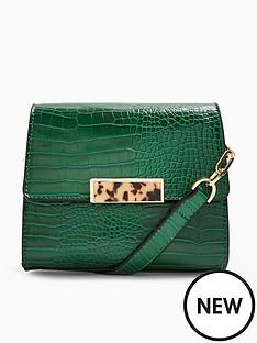 topshop-topshop-skye-croc-cross-body-bag-green