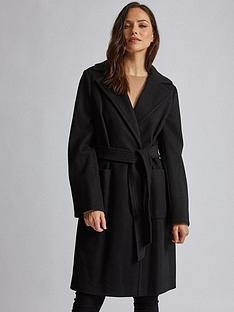 dorothy-perkins-dorothy-perkins-patch-pocket-wrap-coat-black