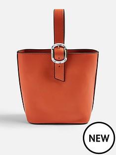 topshop-topshop-tilt-buckle-tote-bag-orange